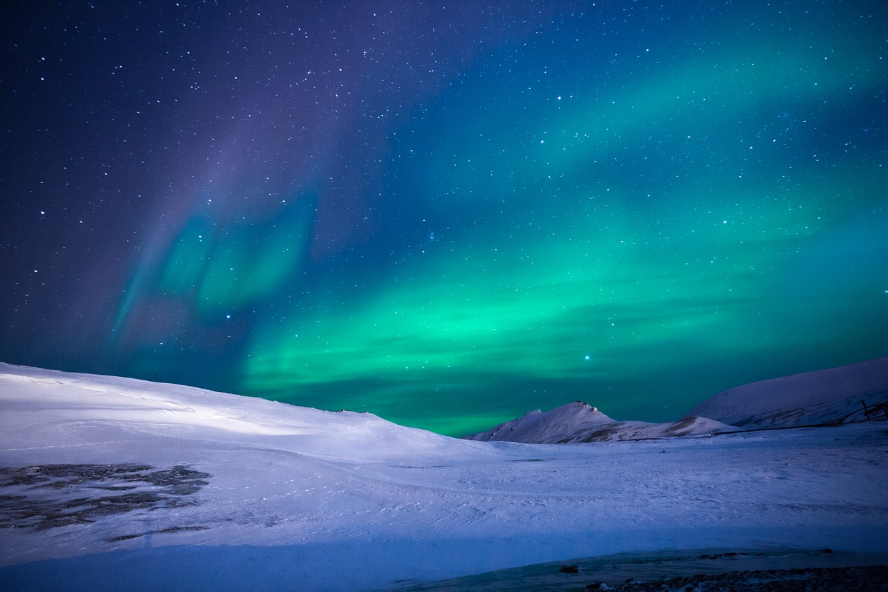 Home page photo (picture of aurora)